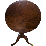 English George II Mahogany Tilt Top Pedestal Table