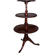English Mahogany Three Tier Dumb Waiter c 1800