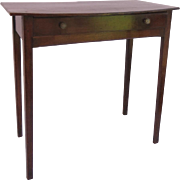 English Bow Front Side Table One Drawer Late 18th Century Early 19th Century
