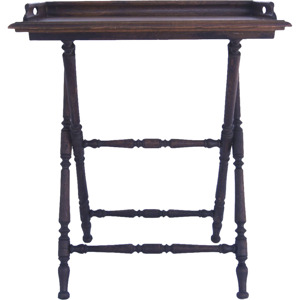 Belgium butler 39 s tray and stand from blacktulip on ruby lane for Stand belgique
