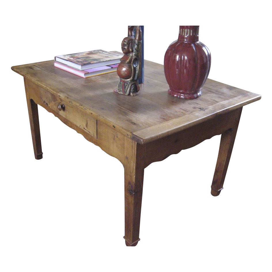 19th Century French Fruitwood Coffee Table From Blacktulip On Ruby Lane