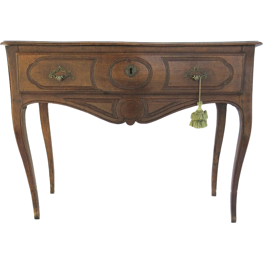 French walnut one drawer table or small sideboard from for 1 drawer table