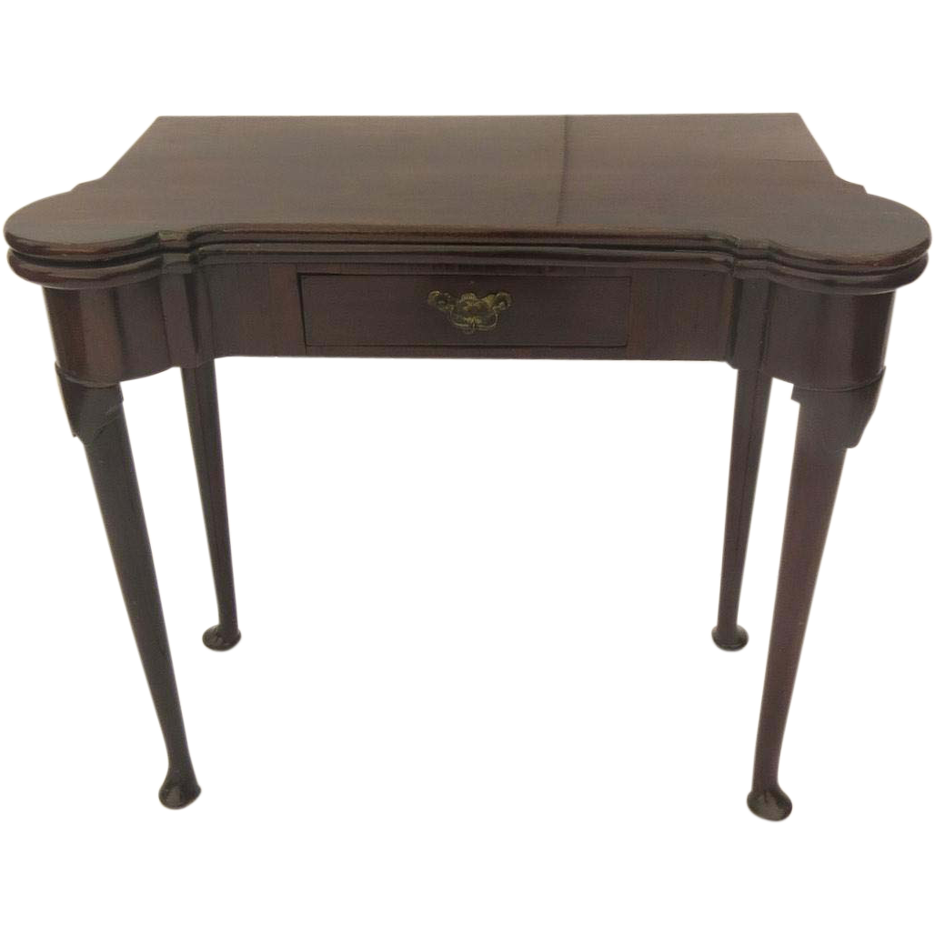 English Mahogany Queen Anne Pad Foot Table From Blacktulip