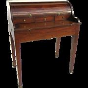 American Mahogany Cylinder Small Side Desk Circa 1820