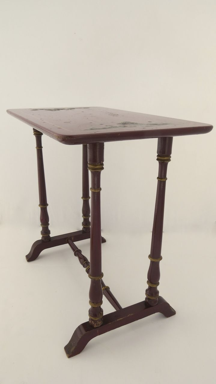 Red chinoiserie decorated side table from blacktulip on for Red side table