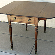 English Mahogany Pembroke Drop Leaf Table c 1830