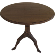 English Isle of Man Mahogany Pedestal Table