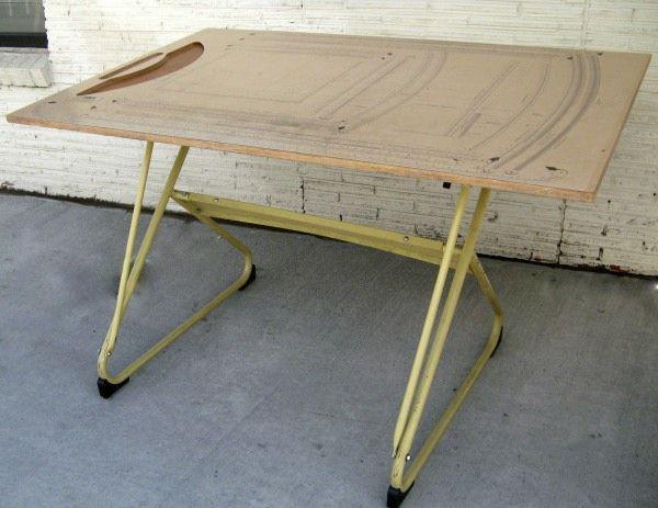 vintage drafting table by klok perspective mid century