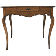Italian Side Table One Drawer Cabriole Legs Desk Country