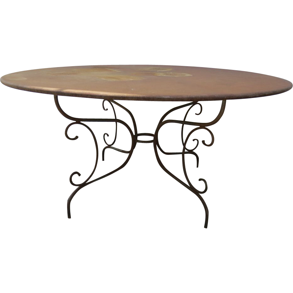 French Round Garden Table From Blacktulip On Ruby Lane