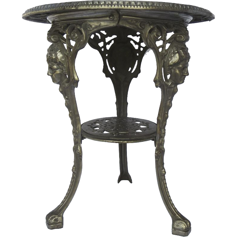 Vintage Cast Iron Pub Garden Table From Blacktulip On Ruby