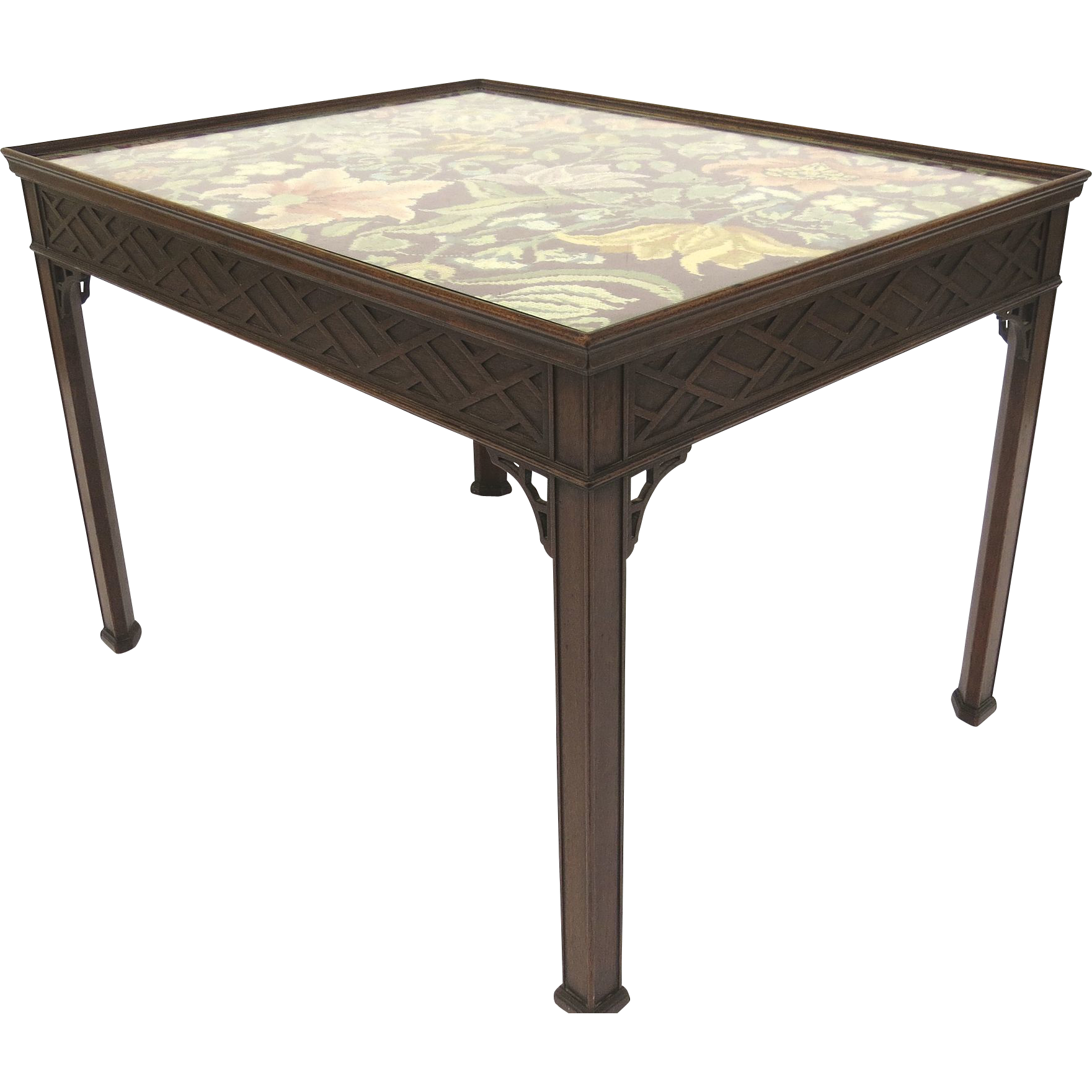 English Mahogany Chippendale Style Coffee Table From
