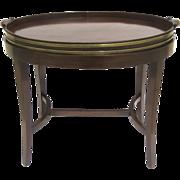 Georgian Mahogany & Brass Bound Oval Tray Circa 1775
