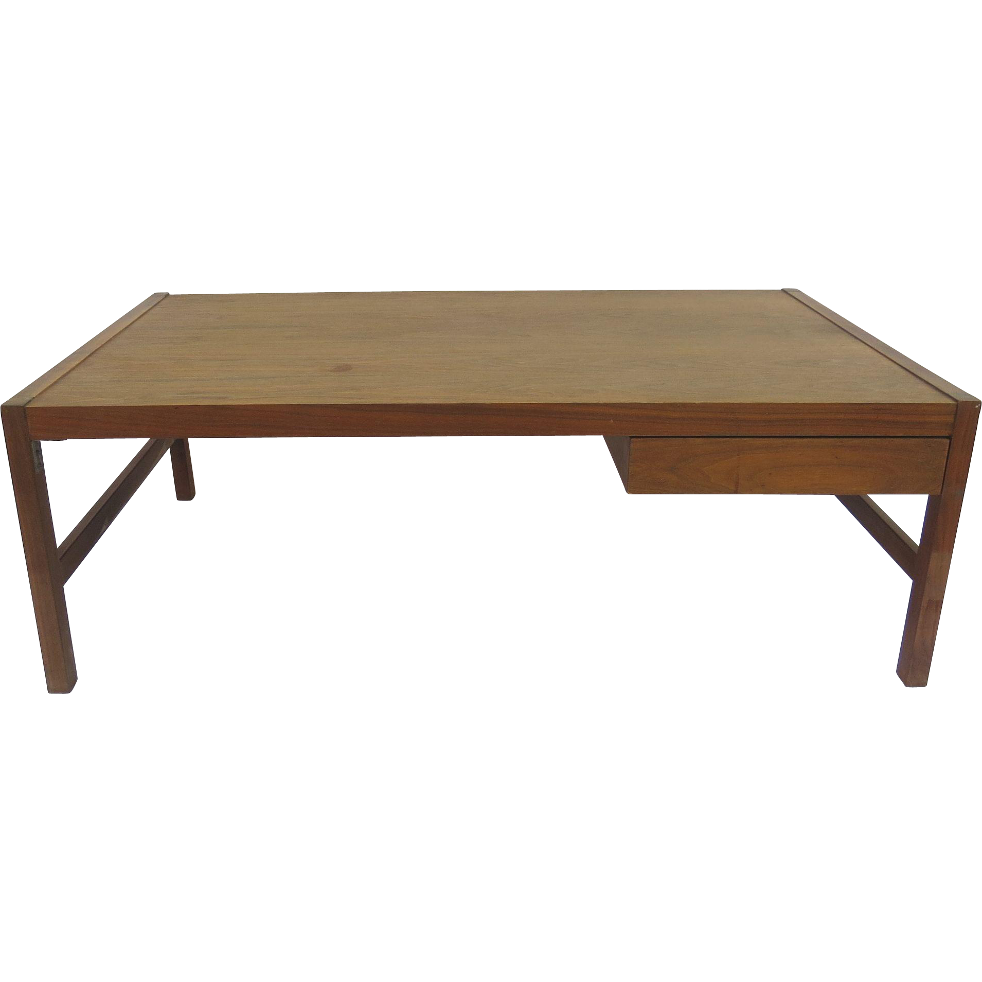 Lane Coffee Table With Drawers: Mid Century Coffee Table With One Drawer From Blacktulip