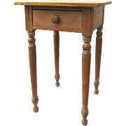 19th Century American Cherry One Drawer Table Stand