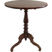 French Fruitwood Tilt-Top Pedestal Side Table circa 1880's