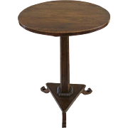 Northern EuropeanTable Elm Pedestal Small Side Table