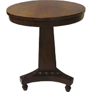 English Mahogany Salesman's Sample Center Pedestal Table Beautiful Patina