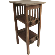 Vintage Arts & Crafts Tall Side Table