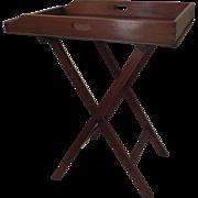 English Mahogany Butler's Tray on Stand 19th Century