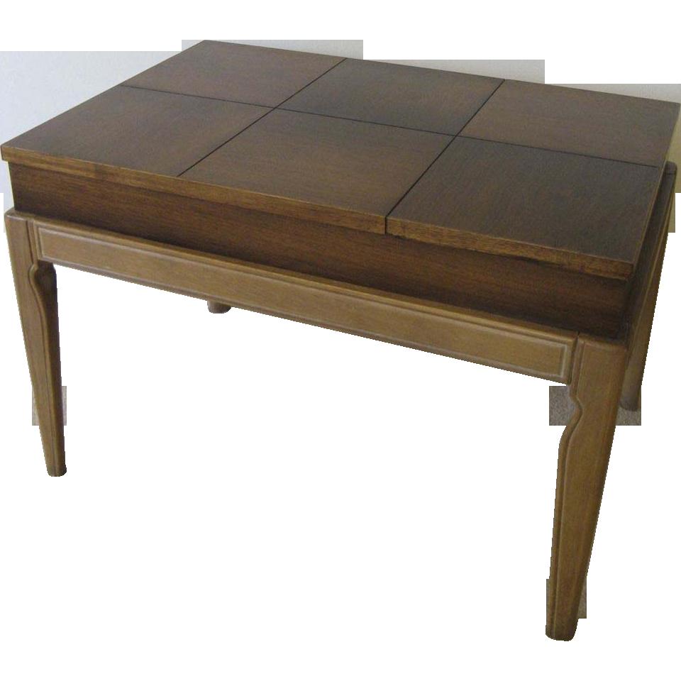 Lift Top Coffee Table Art Van: Drexel Mid Century Limed Legs Lift Top Coffee/ Side Table