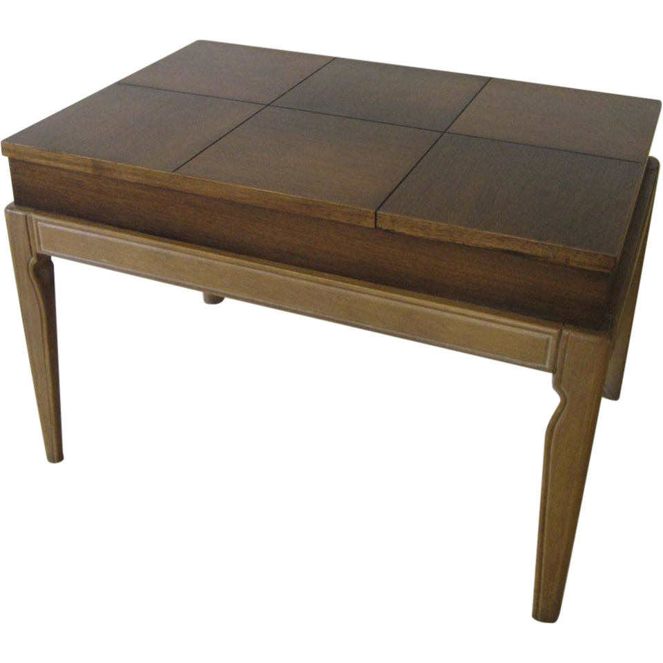 Drexel Mid Century Limed Legs Lift Top Coffee/ Side Table ...