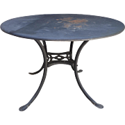 Vintage Metal Garden Bistro Table Round
