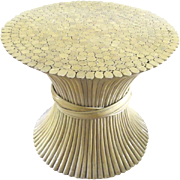 Vintage McGuire Rattan Wheat Sheaf Table