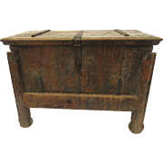 Indonesian trunk with Iron Strap Hardware and Wheels