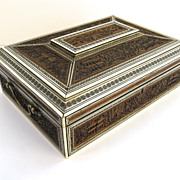 Anglo-Indian Bone Inlaid Sewing Box
