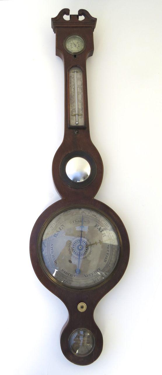 American Mahogany Banjo Barometer