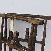 Walnut Casket Table Stands