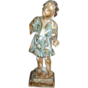 Italian 18th Century Polychrome Carved Nino Dios