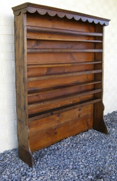 Antique French Provincial Plate Rack Elm