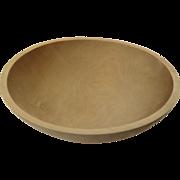 """Large Vintage Maple Turned Bowl 14 1/2"""" Diameter"""