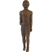 Folk Art 19th Century of Man in Loin Cloth Mustache
