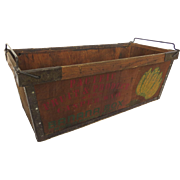 1930s Pacific Fruit & Produce Company Casper Wyoming Wooden Banana Crate