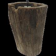 Italian Hand Hewn Hollowed Log Wood