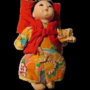 Vintage Japanese Gofun Ichimatsu Little Baby Doll