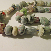 Whimsical Handcrafted Peking Glass Bead Necklace, 24""