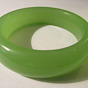 Wide Green Bangle, 58mm