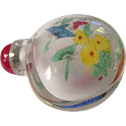 Double Glass Flower-Butterfly Chinese Snuff Bottle