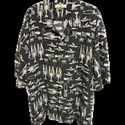 Tommy Bahama 100% Silk Crustacean Aloha Shirt, Size XXL