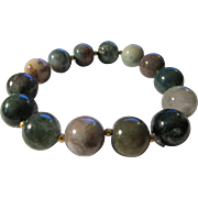 Agate Bead Bracelet with 14K Gold-Filled Beads