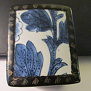 Chinese Blue-and-White Pottery Shard Trinket Box