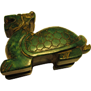 Chinese Jade Collectible of Mythical Dragon-Turtle Creature