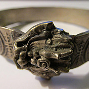 Vintage Mythical Dragon-Chinese Coin Expandable Bangle Bracelet