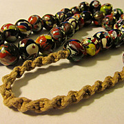 Handmade Nepalnese Ethnic Oriental Glass-Resin Bead Necklace, 23""