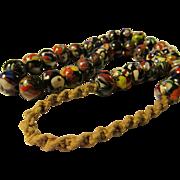 "Handmade Nepalnese Ethnic Oriental Glass-Resin Bead Necklace, 23"""