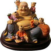Five Chinese Children with God of Fertility Figurine Statuette